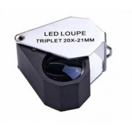 Lupa plegable 10x triplete LED